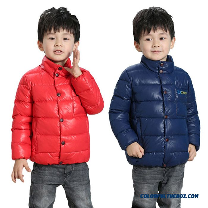 Kids Child Jacket Thick Winter Coat Baby Boys Down Cotton