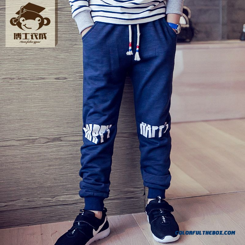 Kids Clothing Autumn New Boy Sweatpants Wholesale Low Price High Quality Boys Long Pants - more images 1
