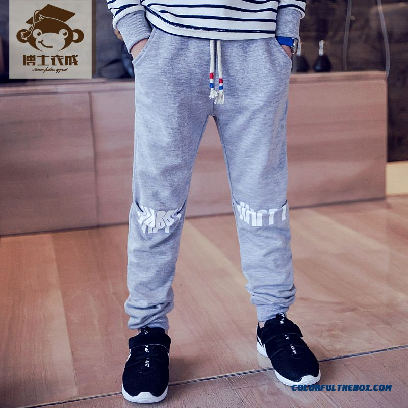 Kids Clothing Autumn New Boy Sweatpants Wholesale Low Price High Quality Boys Long Pants - more images 2