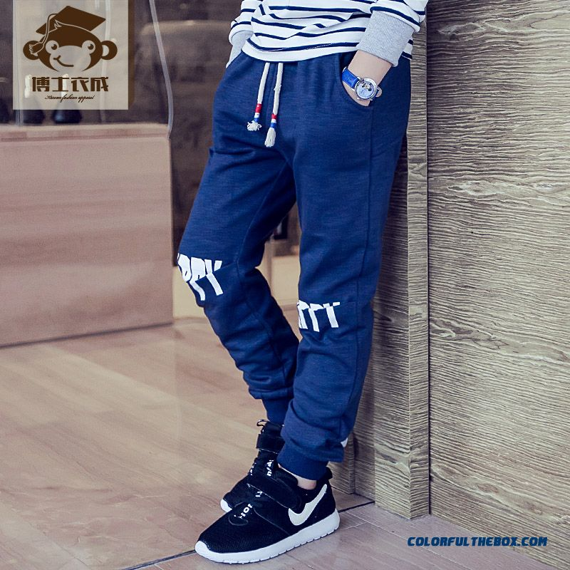 Kids Clothing Autumn New Boy Sweatpants Wholesale Low Price High Quality Boys Long Pants - more images 3