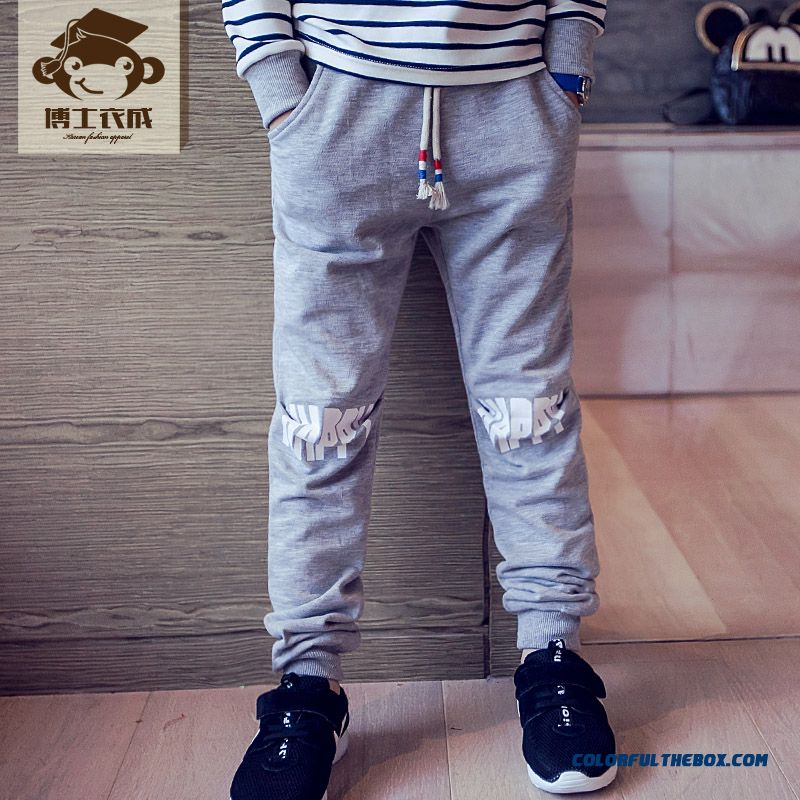 Kids Clothing Autumn New Boy Sweatpants Wholesale Low Price High Quality Boys Long Pants - more images 4