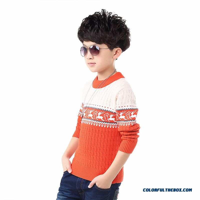 Kids Clothing Sweater Boy Sweater Pullover Big Kids Children' Sweater Winter Warm Clothing