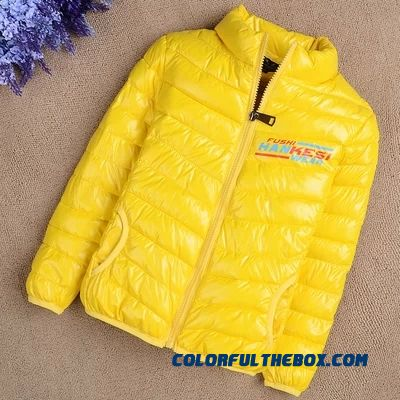 Kids' Coat Boy Girl Winter Cotton Padded Jacket Yellow Warm