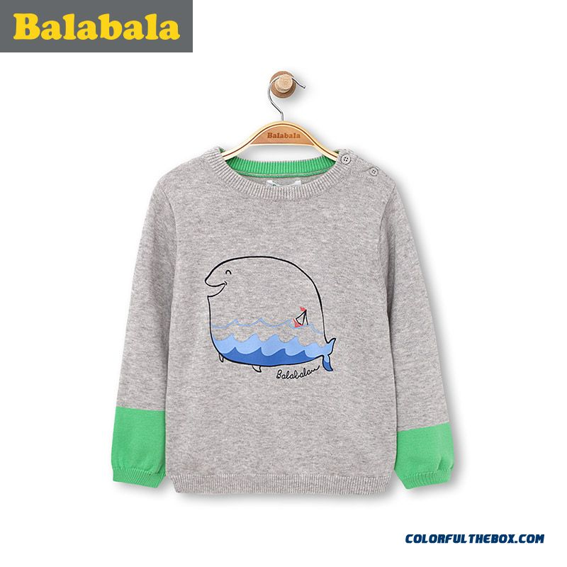 Kids' Cotton Cute Shark Clothing Boy Baby Round Neck Sweater 2016 Spring New Design