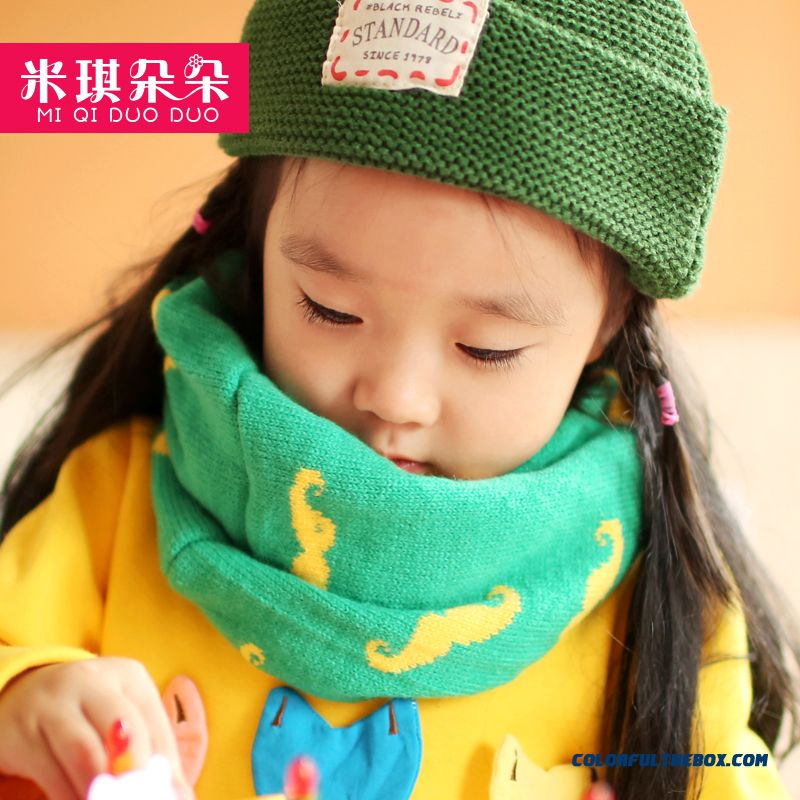 Kids Fall And Winter Scarves Baby Warm Wool Neck Wrap Unisex For Girls
