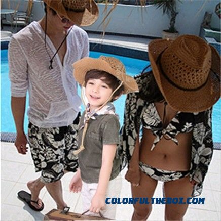 Kids Folding Beach Hat Parent-child Design Straw Hat Fishing Cowboy Caps Large Brimmed Hat Summer Sunshade Boyd Hats