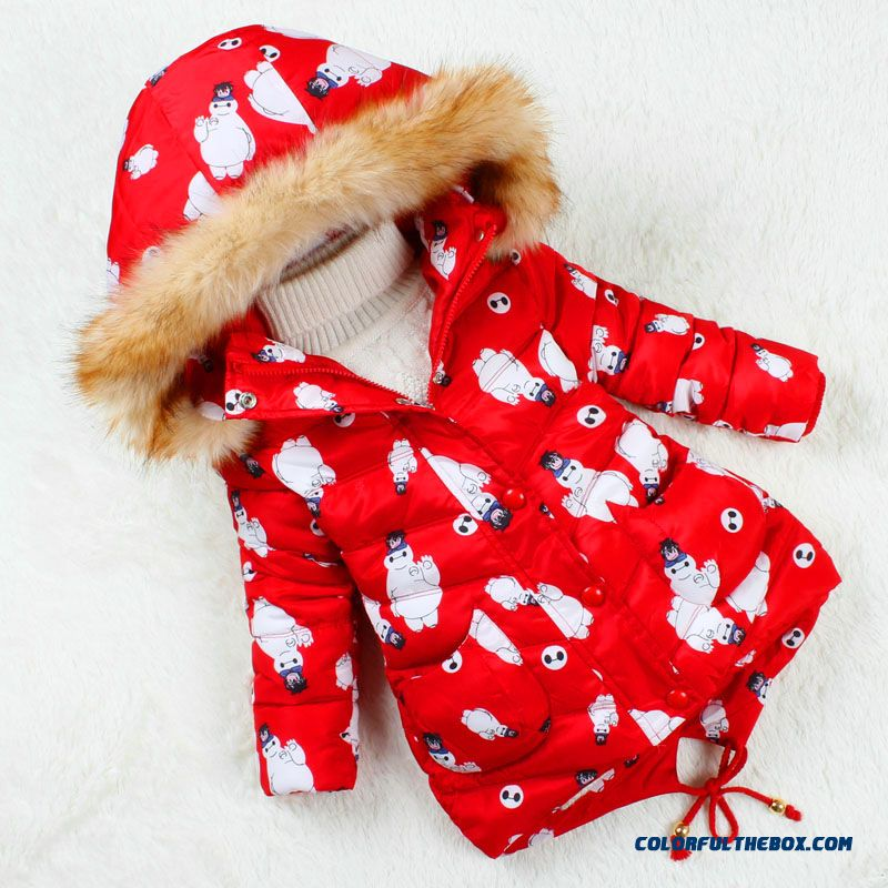 Kids Girls Cotton Medium-long 2015 New Winter Jacket Thick Nagymaros Collar Hooded Coats