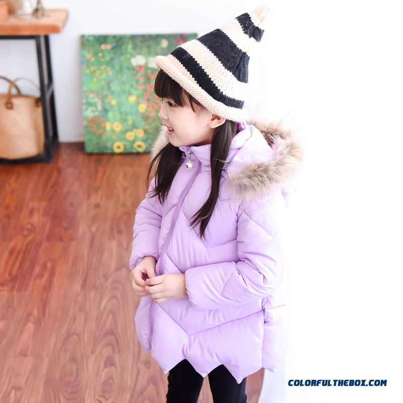Kids Girls Winter Coat Jacket Medium-long Down Jacket So Warm!