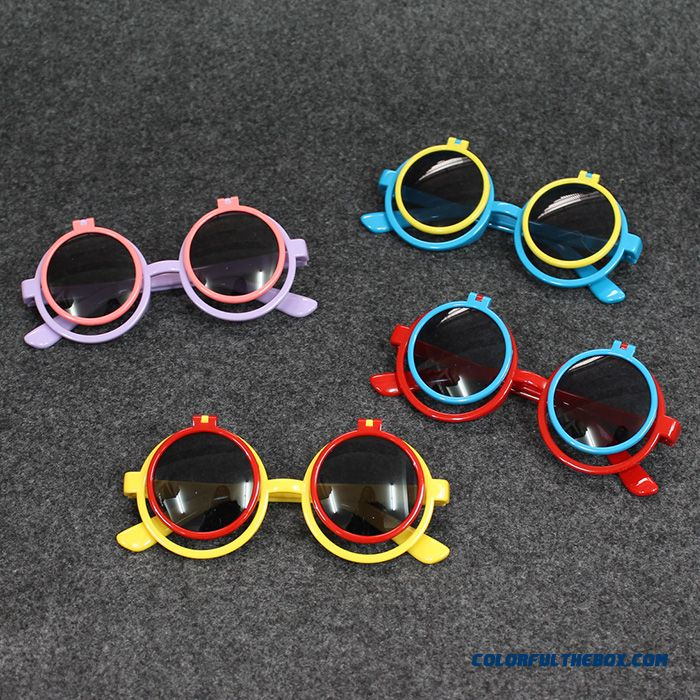Kids Glasses Clamshell Sunglasses Accessories Fashion Summer Big Boys Girls Baby Dark Glasses