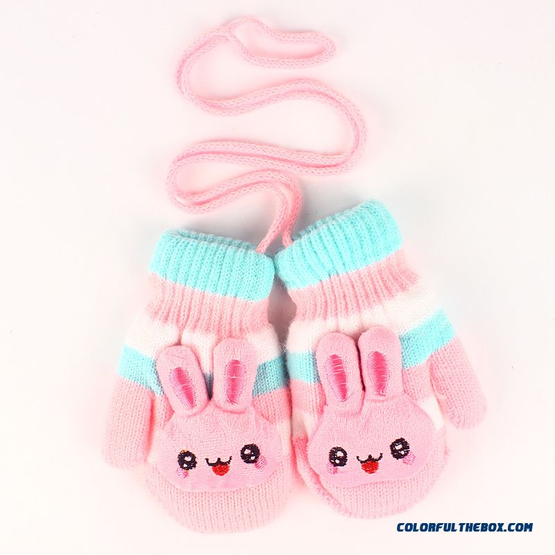 Kids Gloves Warm Gloves Girls Gloves Thick Warm Autumn And Winter Baby Kids 1 Year 3 Years 5 Years Cute Boy