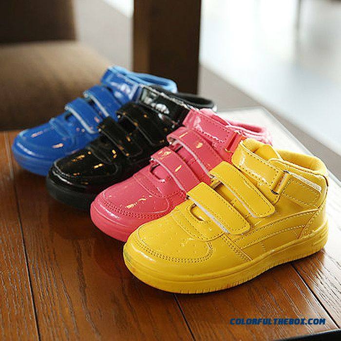 Kids Hight Cut Skateboard Casual Shoes Girl Running Shoes Multicolor
