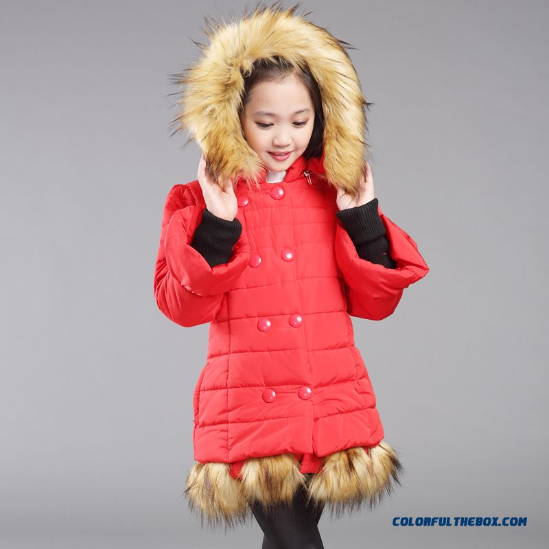 Kids Hooded Cotton Jacket Coat Korean Long Jacket Designed Exclusively For Girls