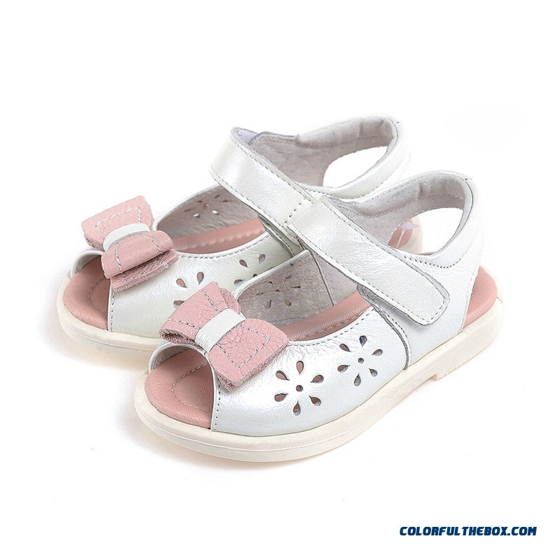 Kids Leather Shoes All-match New Brand 2016 Hot Youth Energetic Girls Princess Sandals