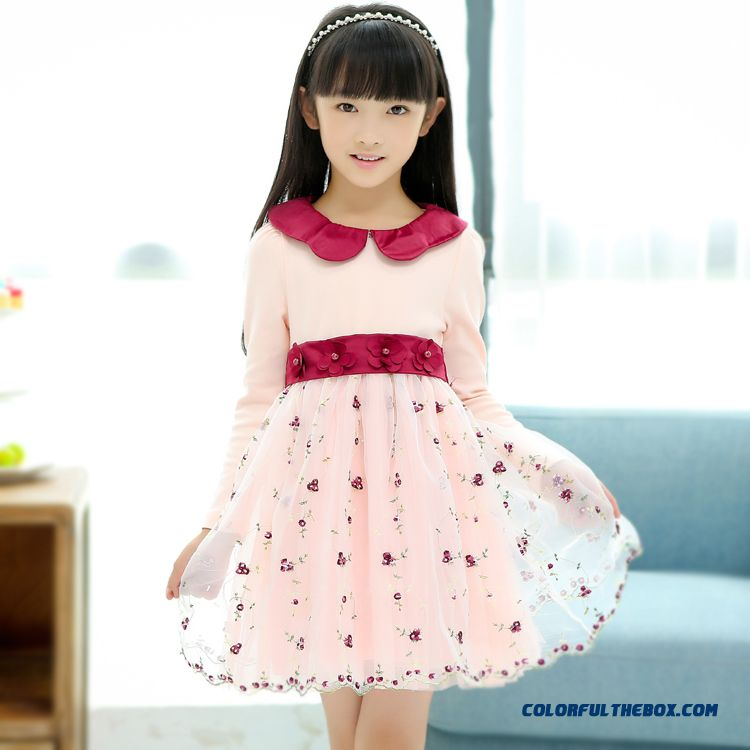 Kids Long-sleeved Princess Dress Plus Thick Velvet Cotton Beautiful For Girls