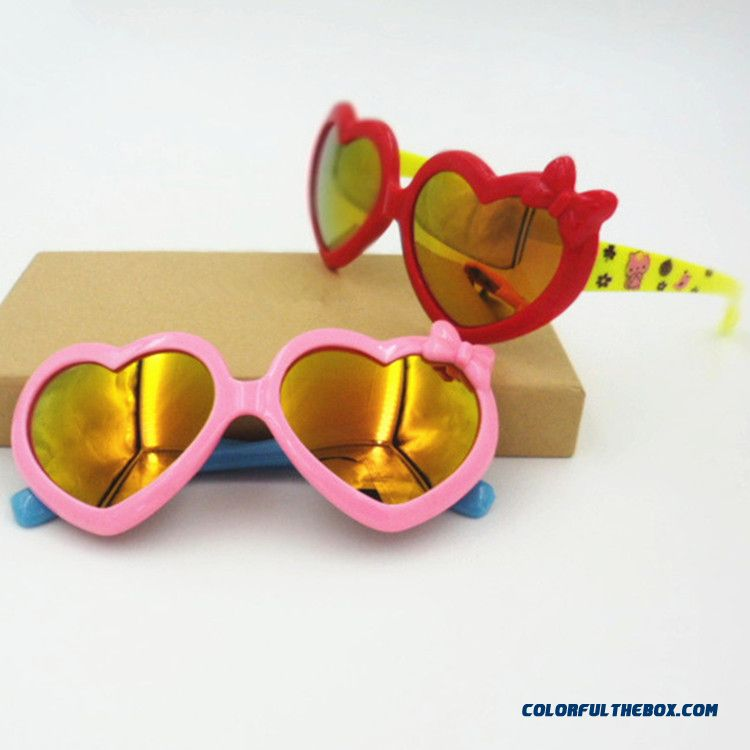 7d2ec5f9d2 Kids Love The Shape Of Bow Uv Protection Decorative Accessories Sunglasses  Red + Yellow Color