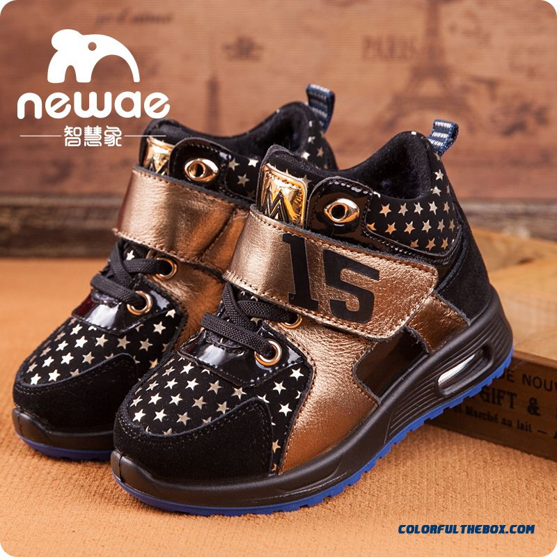 Kids Shoes Plus Velvet Shoes Older Kids Sports Shoes Basketball Shoes Winter - more images 1