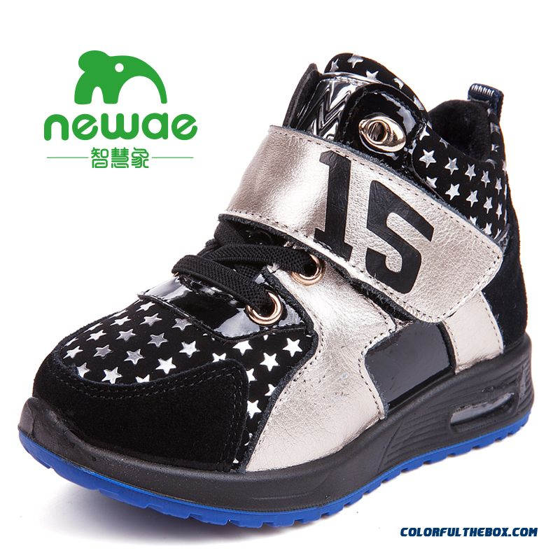 Kids Shoes Plus Velvet Shoes Older Kids Sports Shoes Basketball Shoes Winter - more images 2