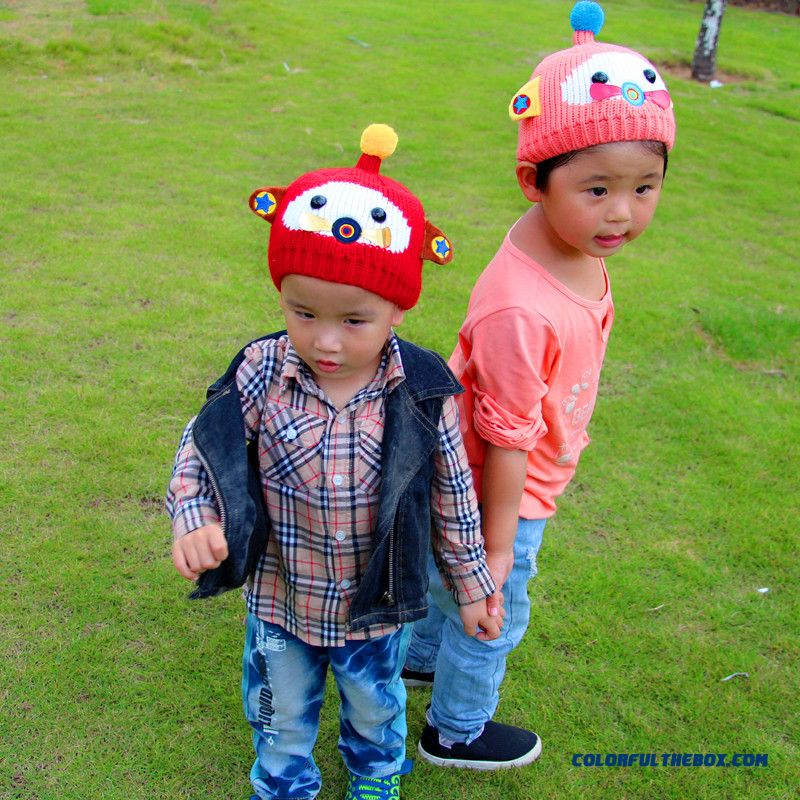 Kids Small Plane Caps Suit For 6-24 Months Boys And Girls Knit Wool Caps Accessories To Keep Warm
