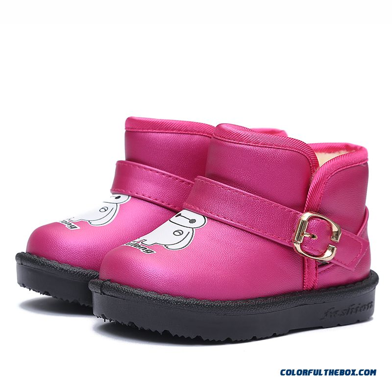 Kids Snow Boots Waterproof Anti-slip Girls Princess Cotton Shoes Boots Free Shipping