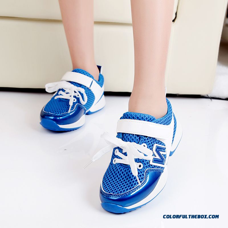Kids Sports Shoes Breathable Mesh Girlswear Resistant Running Shoes Blue