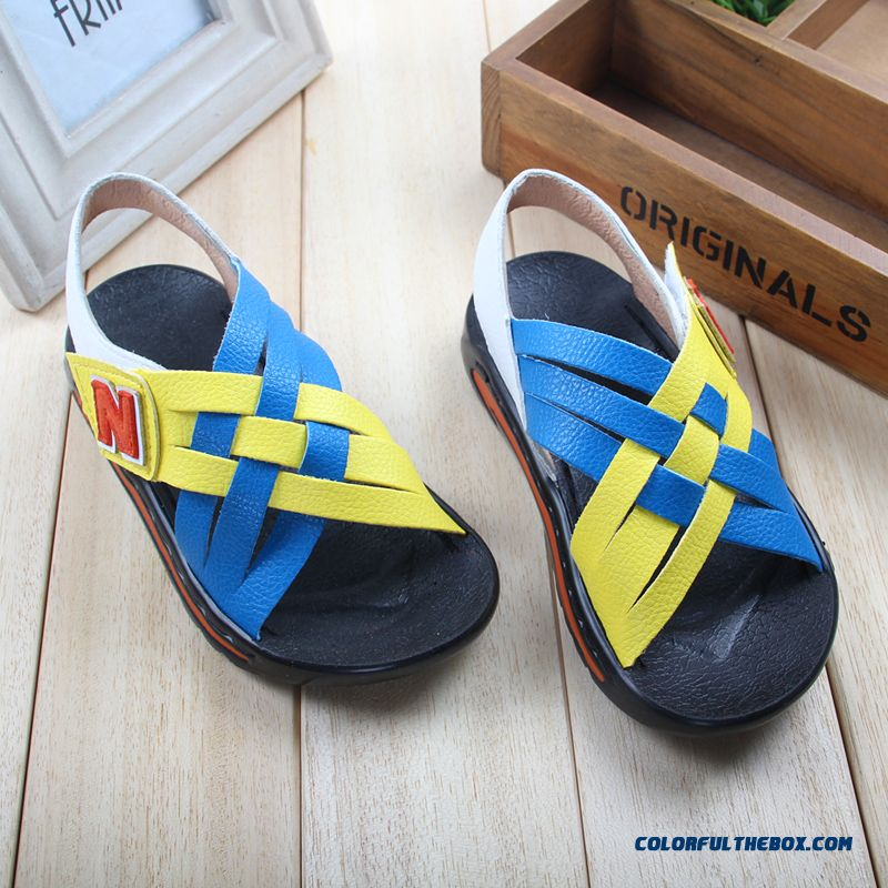 Kids Student Fish Head Beach Shoes Summer Sandals Free Shipping