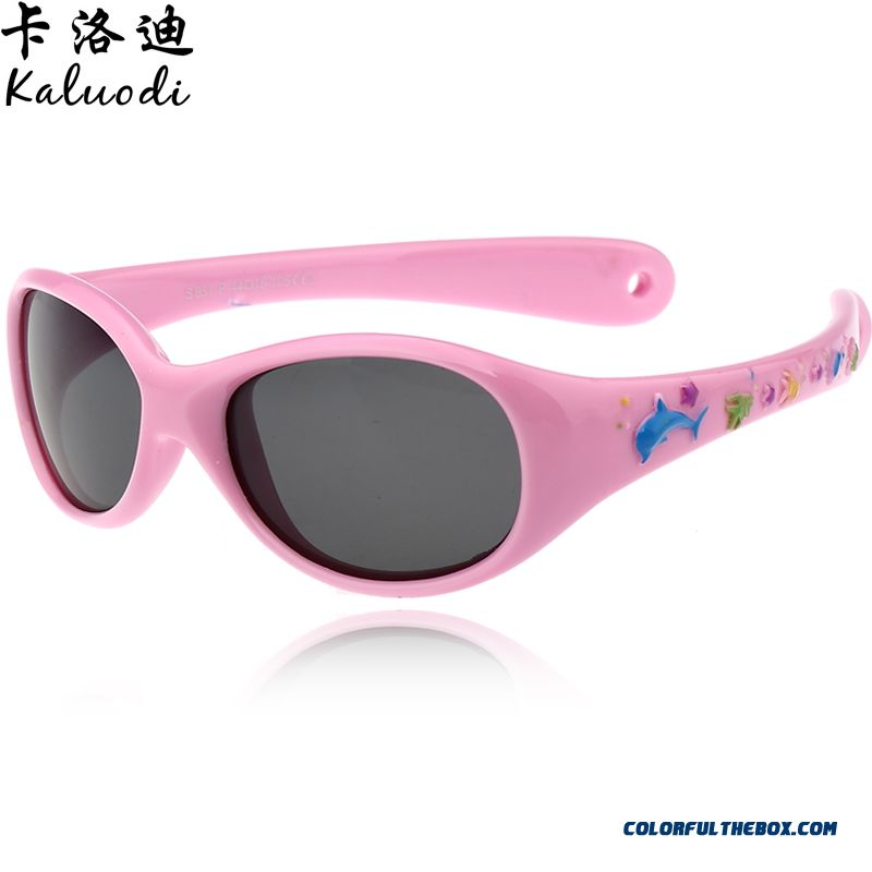 Kids Sunglasses New Authentic Polarized Dark Glasses Fashion Boys And Girls 1-4 Years Old Sunglasses Super-soft Material