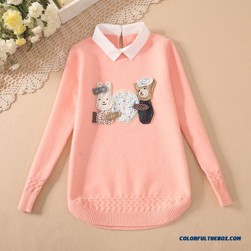 Kids Sweater Pullover Sweater Girls Thickening Big Girls Clothing
