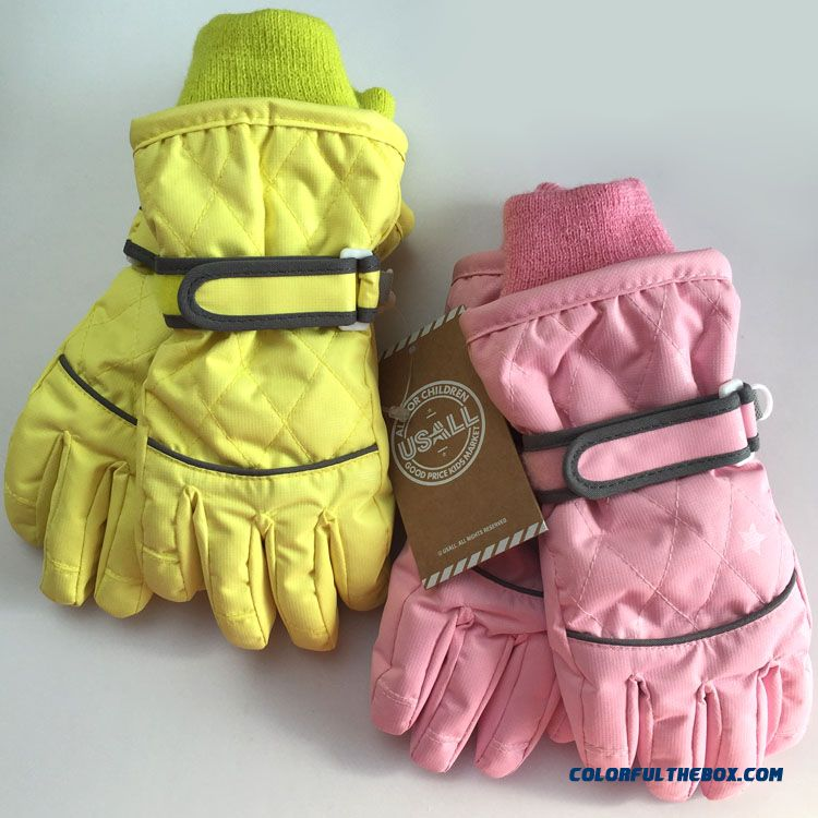 Kids Waterproof Warm Winter Models Girls Gloves Ski Gloves Special Clearance Free Shipping