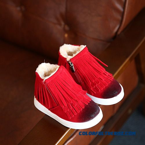 Kids's Casual Shoes Half Boots Warm Waterproof Leather Boots 1-3-10 Years Old Girls