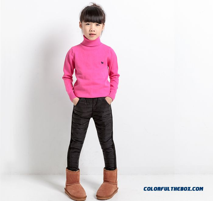 Korean Style Children Kids Keep Warm Down Pants Girls Wears Outside Pants - more images 1
