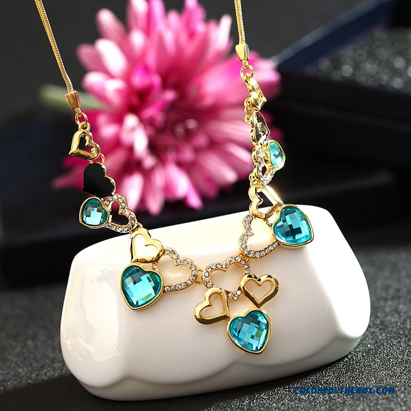 Korean Style High-end European And American Jewelry Crystal Necklace Exaggerated Women's Fine Jewelry