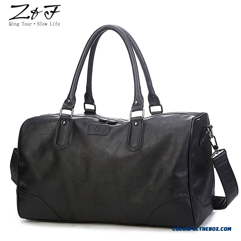 Cheap Korean Version Of Business Travel Shoulder Bag Black Bright ...