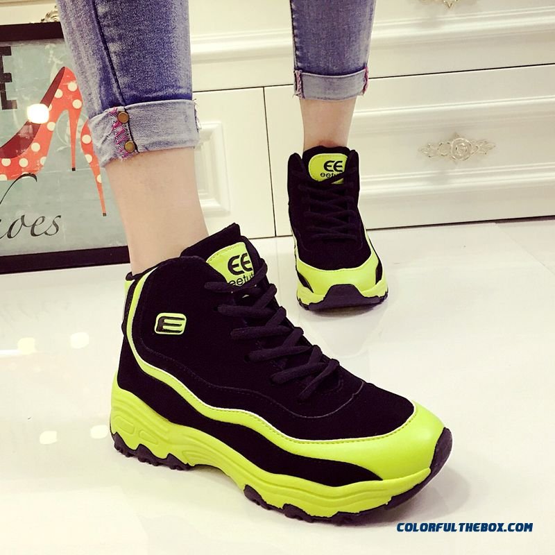 Korean Version Of Casual Shoes Women Thick Bottom Within The Higher Breathable