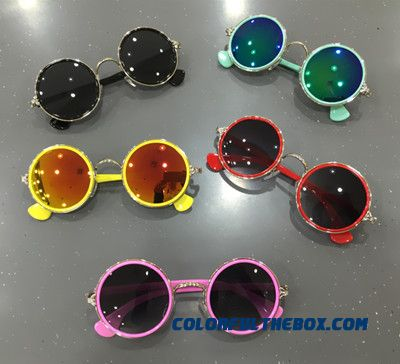 Korean Version Of Fashionable Children's Sunglasses Chrome Hearts Goggles Boys And Girls Baby Sunglasses Sunshades Kids Accessories
