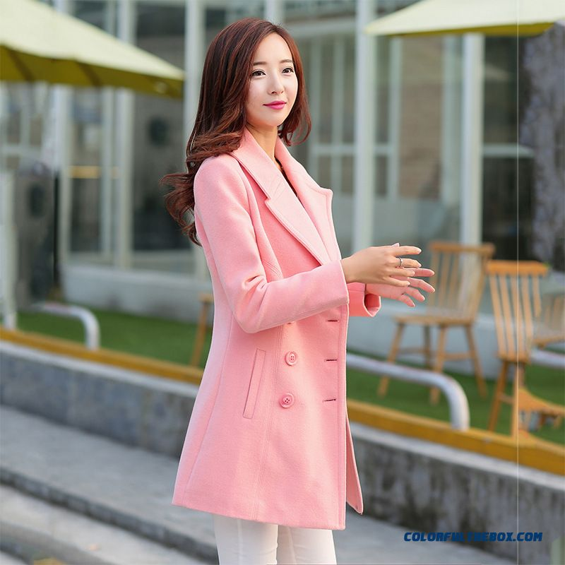 Korean Version Of Large Size Wool Coat Lapel Coat Special Offer For Women