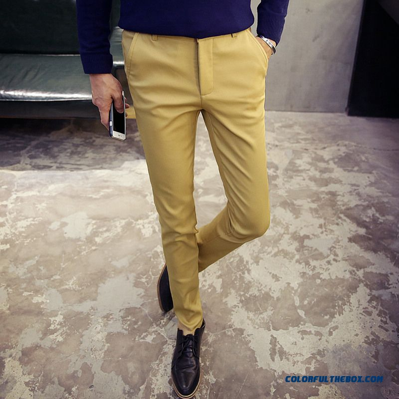 Korean Version Of Men's Casual Cotton Slim Straight New Winter Clothing Pants - more images 2