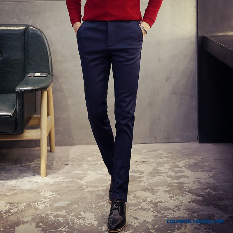 Korean Version Of Men's Casual Cotton Slim Straight New Winter Clothing Pants - more images 3
