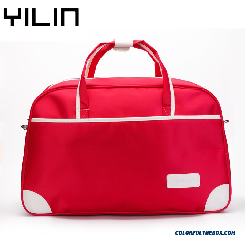 Korean Version Of The Simple Solid Color Bag Men And Women Fitness Large Capacity Travel Bags