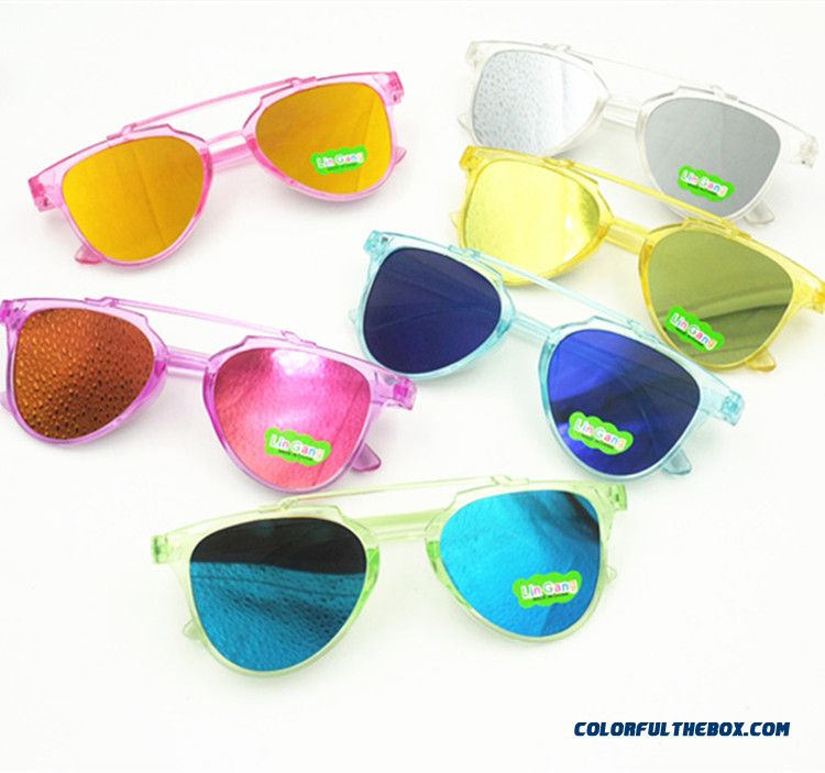 Korean Version Of The Trend Accessories Boys Girls Sunglasses Colorful Fashion Kids Sunglasses