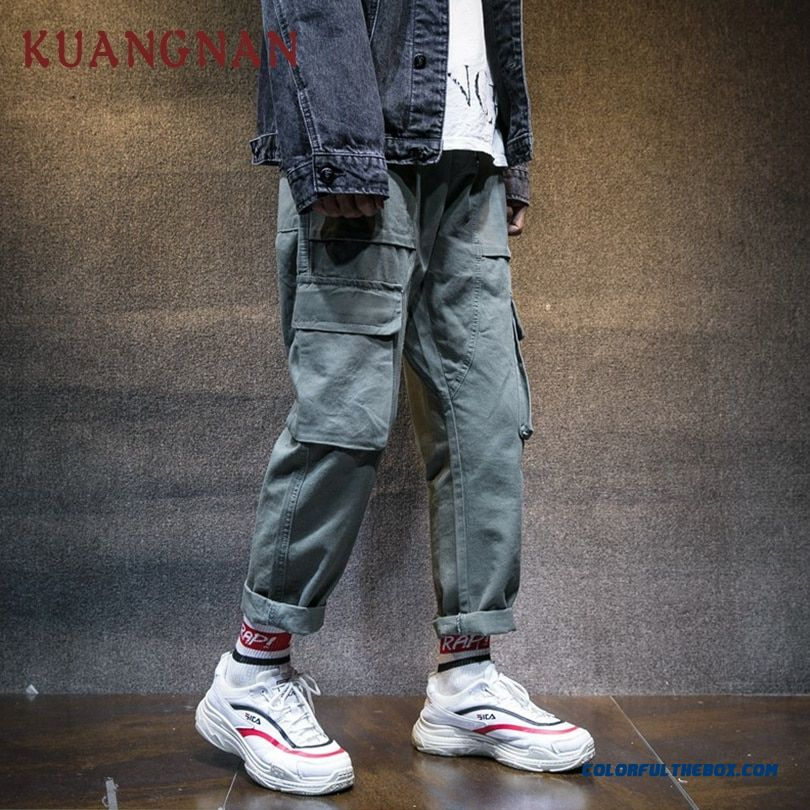 Kuangnan Ankle-length Cargo Pants Men Clothing 2018 Hip Hop Camo Pants Men Jogger Japanese Streetwear Men Pants Casual Xxxl