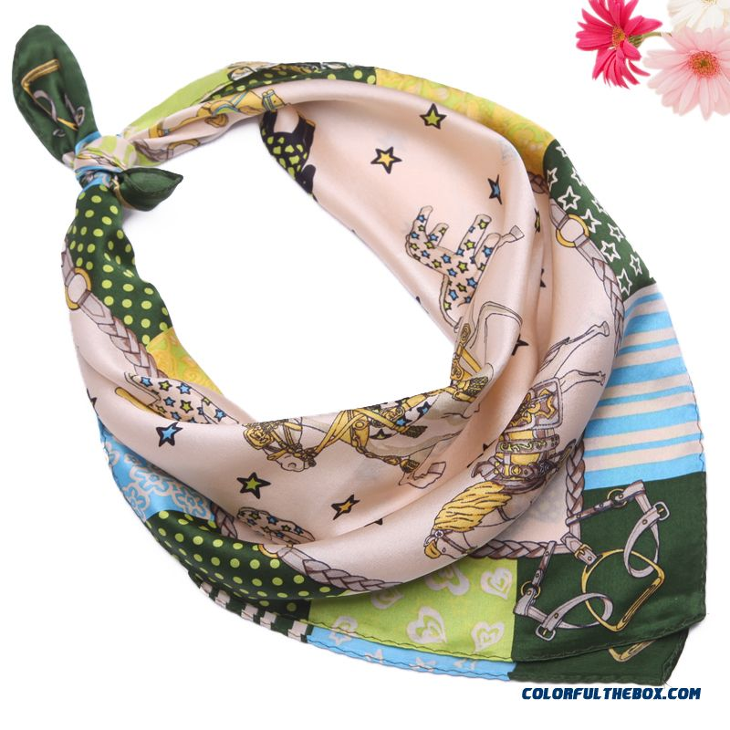 Ladies Ol Kerchief Square Scarf Decorative Match Multi-purpose High Quality Women Accessories