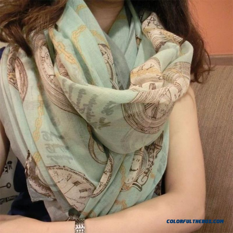 Ladies Scarf Printing Soft Voile Shawl Women Super Long Skin-friendly Breathable Scarves