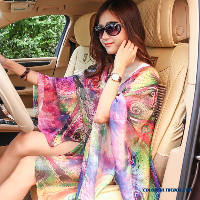 Ladies Silk Scarf Oversized Dual-purpose Sunscreen Shawl Women Free Shipping Factory Direct Sales