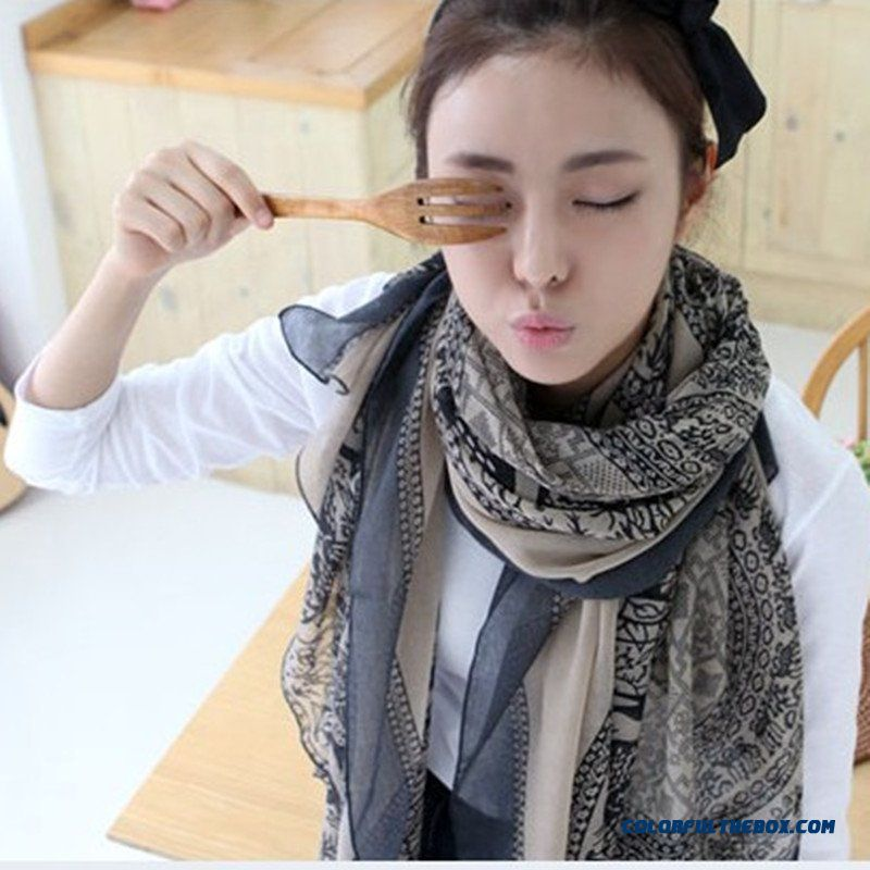 Ladies Spring Oversized Long Scarf Dual-purpose Long Scarf Summer Sunscreen Women Accessories