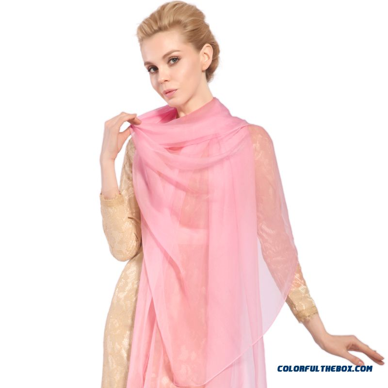 Ladies Stylish Air-conditioned Elegant Shawl Sunscreen Women Scarves Solid Color Joker