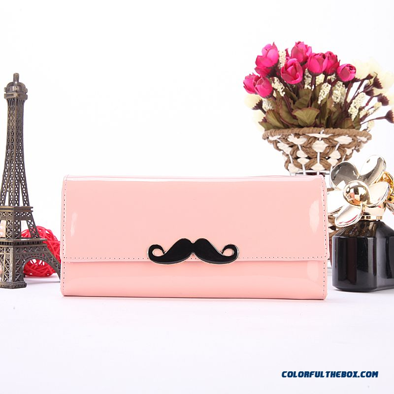 Lady Wallets Bright Side Zipper Beard Clutch Small New Designed Bags