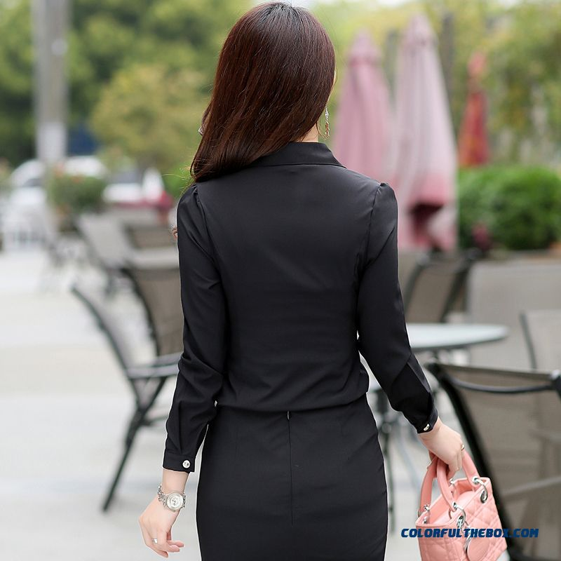 Lady Women Occupational Ol Temperament Stylish Shirts Tooling Casual Shirt Bottoming Shirt Europe Fashion Srtyle Design - more images 4
