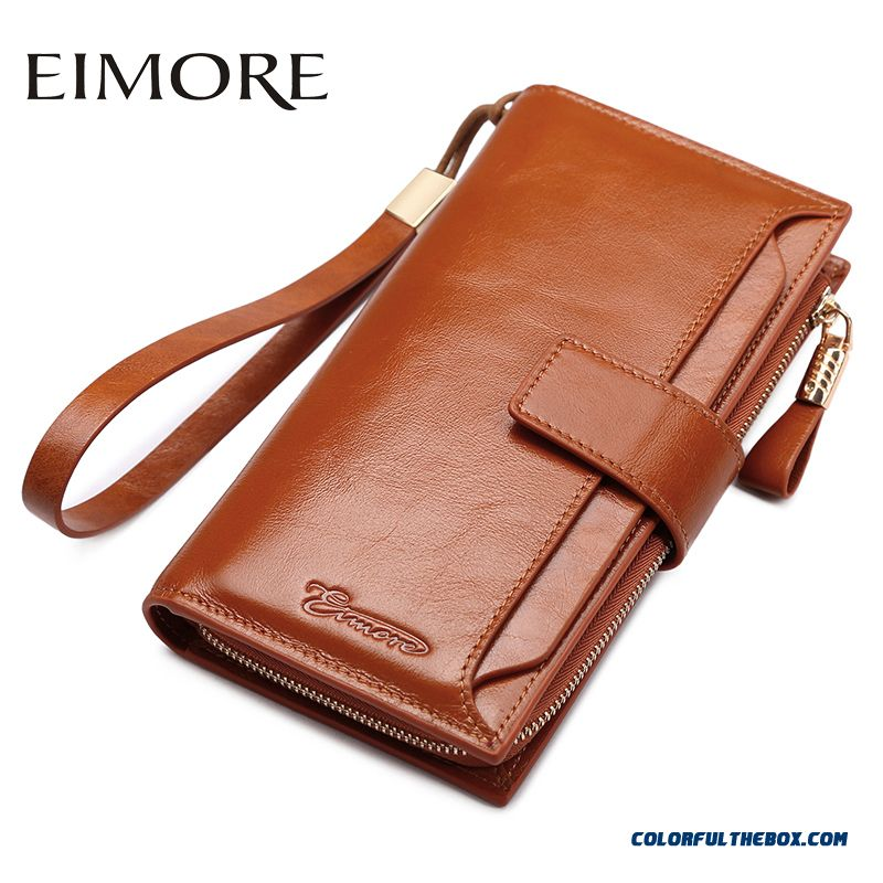 6684d5a106508 Cheap Lady Women Simple Long Wallet Women Models Holding Genuine Leather  Wallets Hasp Thin Style Bags Sale Online