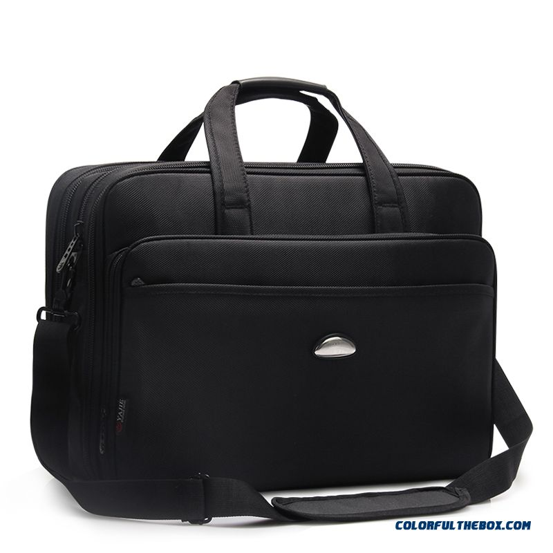 Large Capacity Briefcase Business Men Bag Oxford Canvas Laptop Bag File Business Package