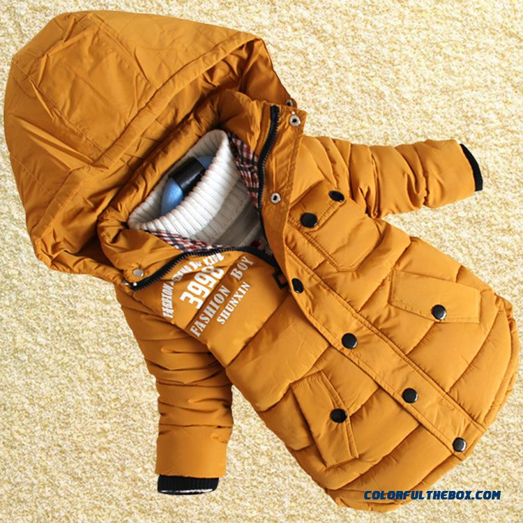 Large Child Kids Thicker Coat New 8-year-old Boy Kids Padded Cotton Jacket